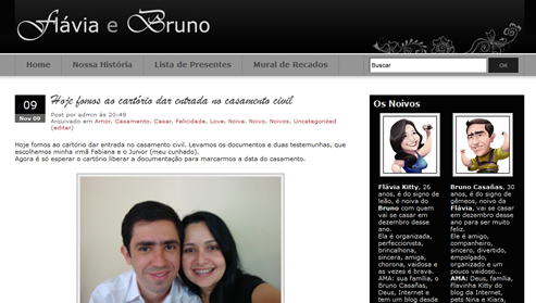 Blog do nosso casamento