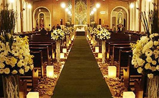 decoracao de casamento na igreja azul e amarelo:Decoracao De Casamento
