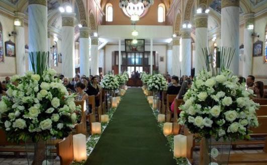 decoracao de casamento na igreja azul e amarelo:Inspiração – Decoração de igreja para Casamento