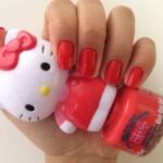 Esmalte da Semana: Vermelho Hello Kitty