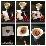 Café com desenho de coração