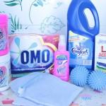 Os produtos que eu uso para lavar roupas