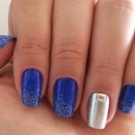 Esmalte da Semana: Azul com prata