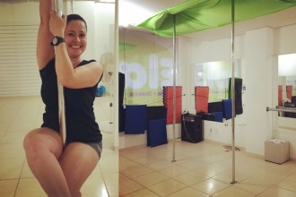 Pole Fitness no Studio Elas #ProjetoFlaviaKitty