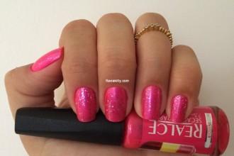Esmalte da semana: Pink + brilho