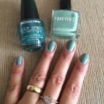 Esmalte da semana: Brilho azul
