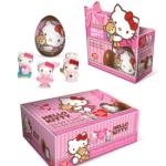 Mini-ovos de chocolate Hello Kitty com miniaturas colecionáveis da Top Cau