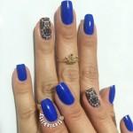 Esmalte da Semana: Azul com película
