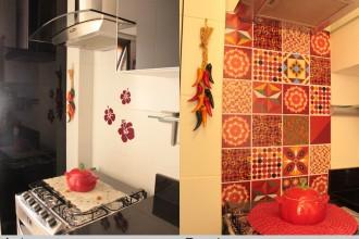 Na minha cozinha – Como colocar adesivos de vinil na parede