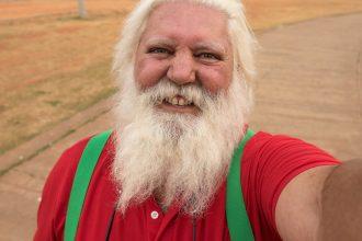 Papai Noel passa as férias em Brasília!