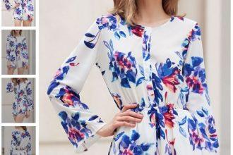Macaquinho floral de manga comprida, para deixar os dias frios elegante e florido