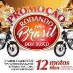 Vinho Dom Bosco vai sortear 12 motos para rodar pelo Brasil
