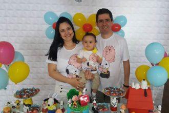Mesversario de 10 meses do Bernardo. Tema: Snoopy